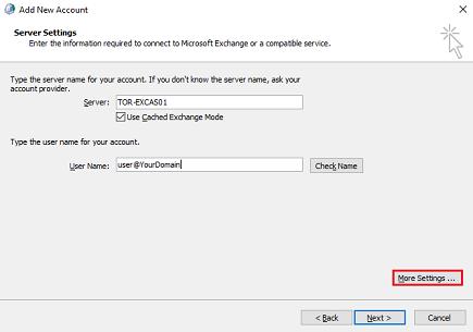 MS Exchange Manual Setup 3